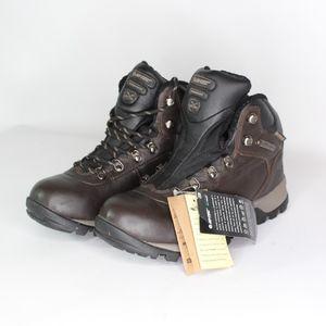 Vtg New Hi Tec Mens 7.5 Leather Hiking Boots Brown